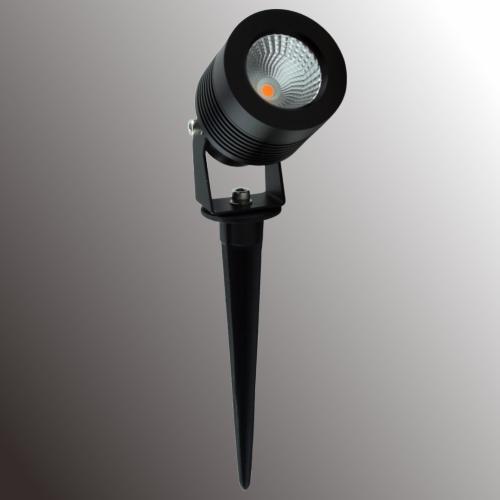 Led Outdoor Spike Light: LUX 8W LED Spike Light (Black)