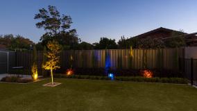 RGB Lighting in Garden Beds