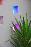 RGB Akos Lunar Lights in Rendered Wall Boxes