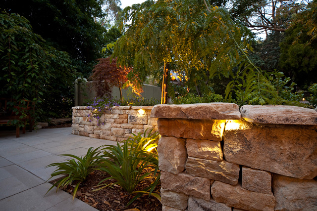 Baer Bullet Light in Stone Wall Sa outdoor lighting