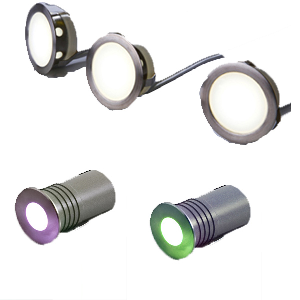 IN-GROUND LED DECK & WALL LIGHTS, Low Voltage LED